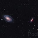 M81 M82 da montemalbe. problemi enormi di scollimazione.,                                Paolo Zampolini