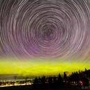 Aurora and Star Trails over Georgian Bay,                                SmackAstro