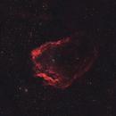 Sh2-129 Flying Bat Nebula 20210212 28440s Ha-OIII 01.7.4,                                Allan Alaoui