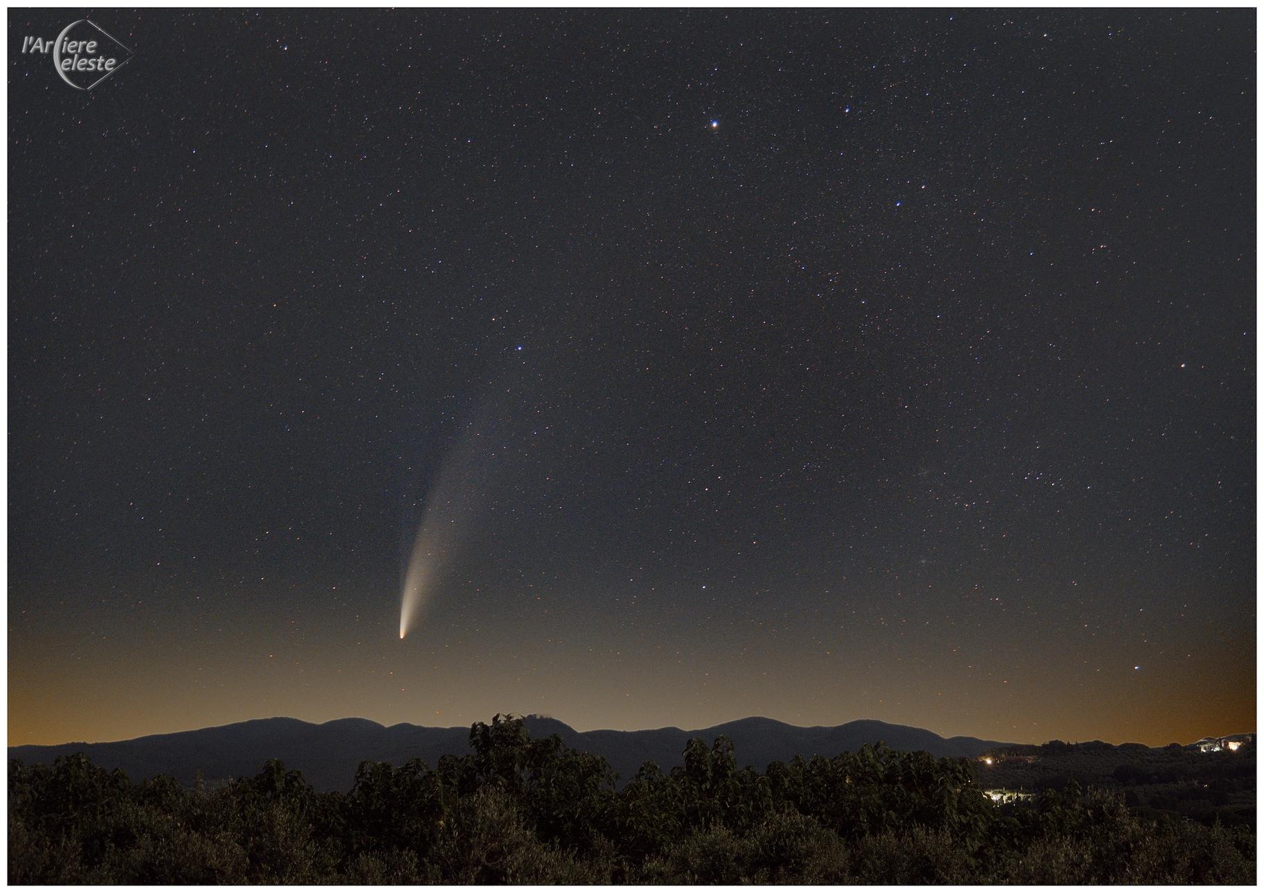 Comet P/2020 F3 NEOWISE From Castagneto Carducci,                                Edoardo Luca Radi...