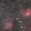 IC410 Flaming Nebula and IC405,                                Masayuki Matsuo
