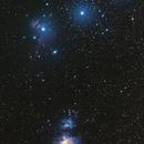 Orion et ses nébuleuses les plus lumineuses,                                Bernard Pâris