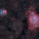 M 8 Lagoon and M 20 Trifid Nebula,                                aalbi