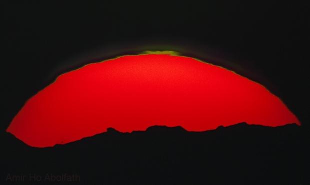 A very rare atmospheric effect (please visit link),                                Amir H. Abolfath