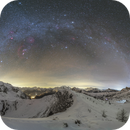 Milky way at Passo Giau, with the 46/P near M45,                                Davide De Col