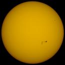 Coloured Sun in Whitelight , 9th August 2015 , 10:00 BST.,                                steveward53
