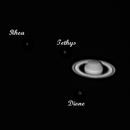 Saturne + Titan, Rhea, Tethys et Dione,                                xavier