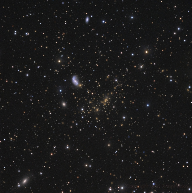 Gravitational lensing in Abell 2218,                                Vlad Onoprienko