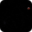 Eclipsed Moon and M44, Beehive Cluster,                                KHartnett