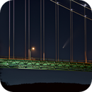 Comet C2020 F3 (Neowise)  through the Lion's Gate Bridge in Vancouver,                                Dean Carr