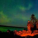 More aurora, with ursa major - selfie,                                Ian Dixon