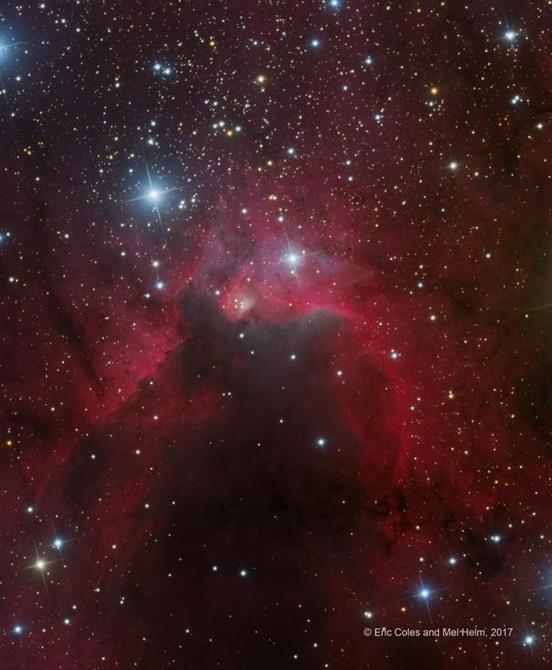 The Cave Nebula, SH2-155 HRGB Image,                                Eric Coles (coles44)
