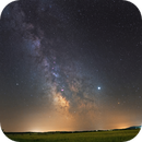 Jupiter and Milky Way (Lorraine - France),                                -Amenophis-
