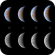 Venus - phase and size change during April 2020,                                Łukasz Sujka
