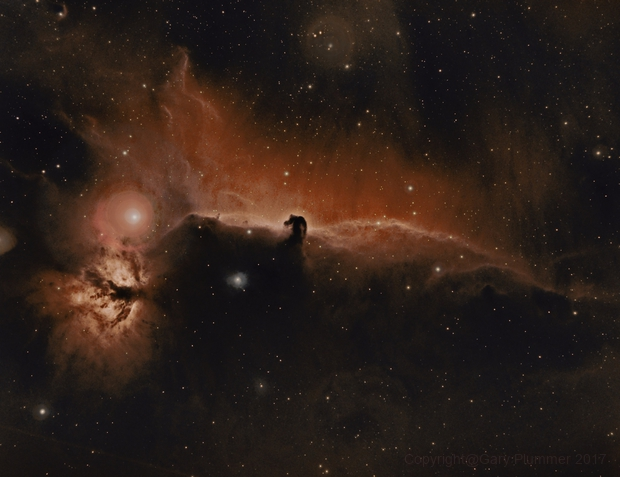 B33 Horsehead and NGC2024 Flame nebulae,                                Gary Plummer