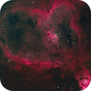 IC1805 The Heart Nebula (2019 Edition) in Narrowband with RGB stars,                                Eshan Toorabally