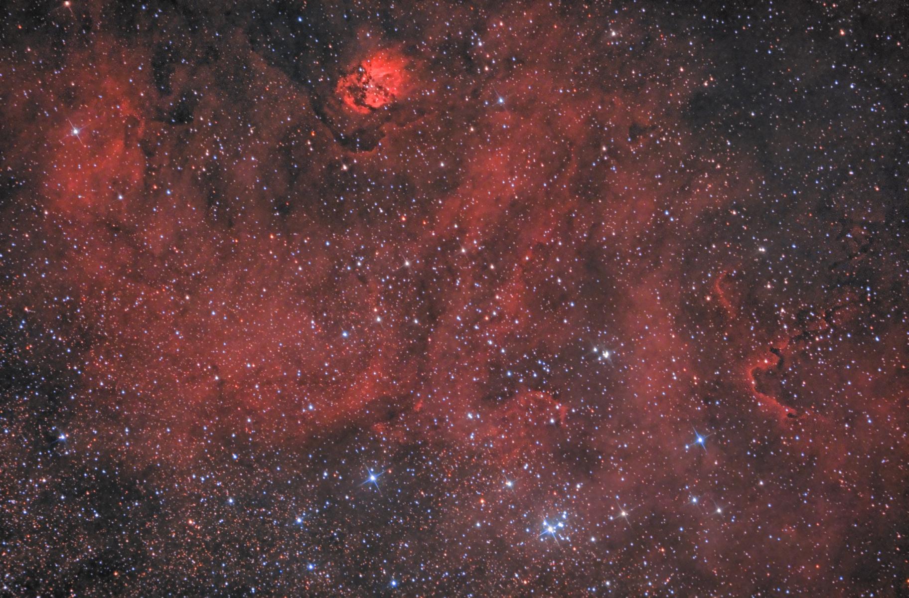 Sh2-54 Scary Face Nebula,                                Enrico Scheibel