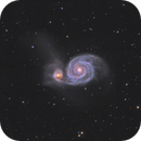 M51 - Whirpool Galaxy / 2020,                                Mikko Viljamaa
