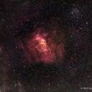 The Bubble Nebula in NB with RGB Stars,                                Scott
