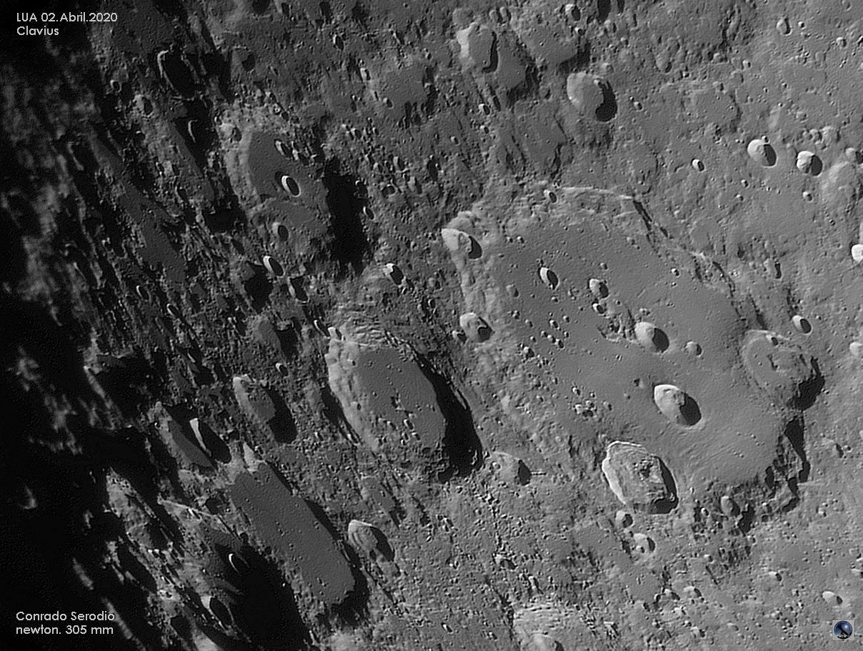 Clavius crater near the limb,                                Conrado Serodio