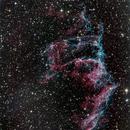 Half of Eastern Veil - NGC6992 in RGB,                                Seymore Stars