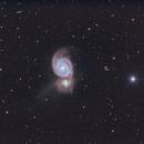 Messier 51 - Whirlpool Galaxy - LRGB+Ha,                                Eric Walden