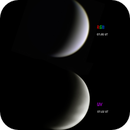 The crescent Venus in colour and UV,                                Niall MacNeill