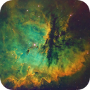 NGC281 The Pacman Nebula in SHO,                                Chad Leader