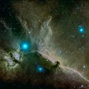 Horsehead Nebula in narrowband SHO,                                Mike