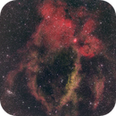 SH 2-157 The Lobster Claw, NB Image with HOS color scheme,                                JohnAdastra