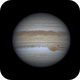 Jupiter with GRS,                                bubblewed