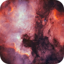 NGC7000 + IC5070 2 Panel Mosaic (HOO),                                Young Joon Byun