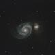 Messier 51 -- The Whirlpool Galaxy,                                Joe Shuster