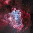 M17 Omega Nebula in 60 min - HOO,                                Wissam Ayoub