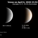 Venus on 2020-04-06 (Near-UV and IR),                                JDJ