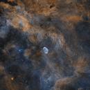 The Neighborhood of the Crescent Nebula in Bi-color,                                Jim Lindelien