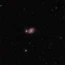 Whirlpool Galaxy,                                Ebany