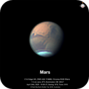 "Mars under excellent seeing conditions - still only 7.3"" apparent diameter,                                Niall MacNeill"