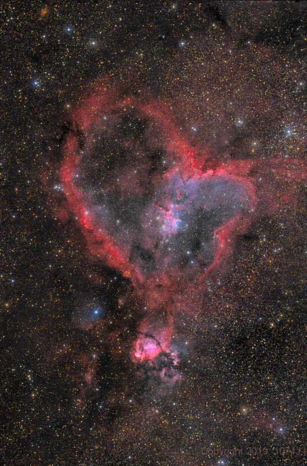 Heart Nebula HaOIIIRGB,                                1074j