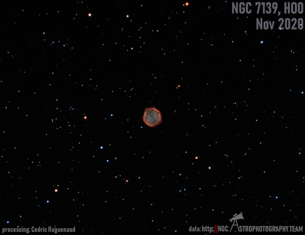 NGC 7139 in HOO,                                Cedric Raguenaud