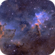 The core of the Heart !  Melotte15 in SHO, Blue and Red,                                Arnaud Peel