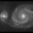 Messier 51   The Whirlpool Galaxy,                                HAMAL