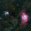 Lagoon and Trifid Nebulae,                                Cade Brinkley