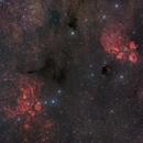 NGC 6334  The Cat's Paw nebula / NGC 6357 The Lobster nebula,                                noodle