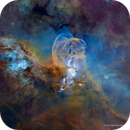 The Statue of Liberty Nebula - Starless Hubble Palette - NGC3576,                                Eric Coles (coles44)