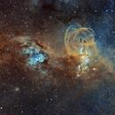 NGC3576 - The Statue of Liberty Nebula,                                Christian_Hilbert