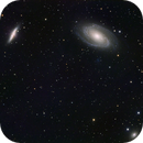 M81 (Bode's), M82 (Cigar), and NGC 3077 (other smudgie) from Bortle 8/9 backyard,                                Ryan Haveson