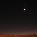Moon,Vénus,Júpiter,Regulus and Panstarrs ,                                Caio Vinicios