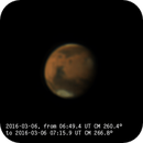 First Mars animation for 2016 apparition - 06:52 to 07:15 UT,                                Almir Germano