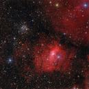 NGC7635 and M52,                                Bart Delsaert